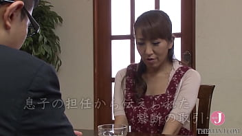 Busty Japanese milf gets fucked by her son's teacher for his future [SPRD-835]