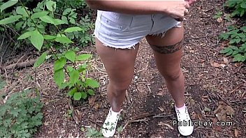 Perfect ass in shorts and sex in woods