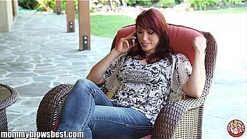 MommyBB Nikki Hunter jumps on a young boy's dick