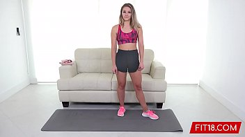 FIT18 - Scarlett Fall - Tiny Green Eye Blonde Amateur Is Fucked and Creampie in POV
