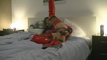 Sissy in her hotel is fucking her ass with cucumber