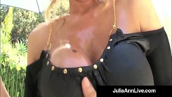 Busty MILF Legends Julia ANn and Lisa Ann Oiled Up Hardcore Foursome!