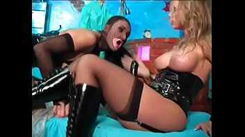 Brunette slave latex girl Katerina was caught red-handed rubbing her muff without permission and had to take big strap-on in her arse and give her mistress lunchbox