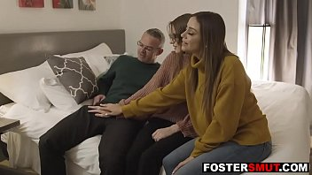Foster daughter spied and fucked by mom & dad