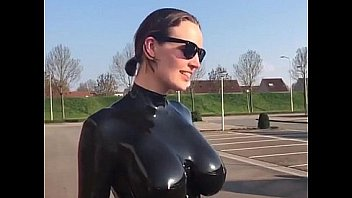 woman in latex