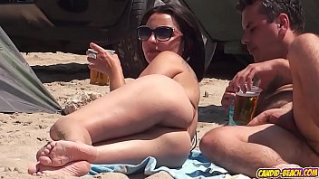 Nudist Ladies Filmed At The Beach With Hidden Camera while they are tanning naked 1