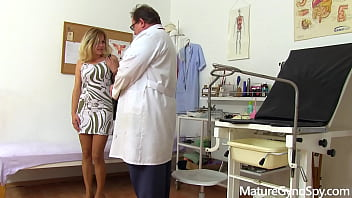 Young MILF Lisa secretly recorded by voyeur doctor