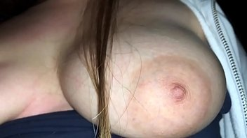 Horny young milf is teasing with her big natural tits