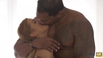 BLACK4K. After meeting in the bar, lovers have interracial sex act