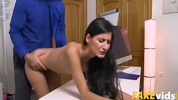LETSDOEIT - Hot Brunette Coco Kiss Feeds Her Horny Pussy This Lunch Break