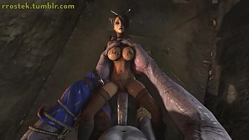 Lulu Impaled on giant Cyclop monster cock 3D Animation