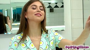 Riley Reid waits eagerly for her secret friend Carter Cruise to have some fun!