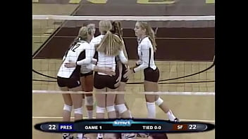 Volleyball girls butt grabs 1