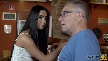 DADDY4K. Guy catches girlfriend and dad having sex in middle of bar