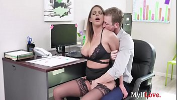 OFFICE SEX with horny MILF