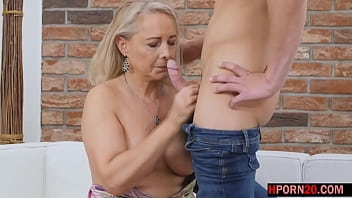the horny granny loves young cocks