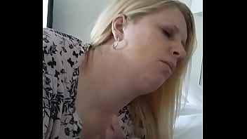 Blonde milf blowjob and cum