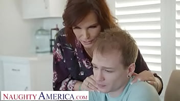 Naughty America - Syren De Mer lets Alex know how much she loves cock by having him jizz down her throat