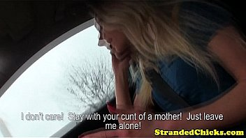Real amateur hitchhiker cheats on her bf with driver as she - 3 part 6