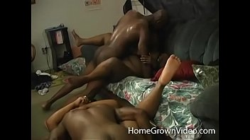 Ebony group sex orgy