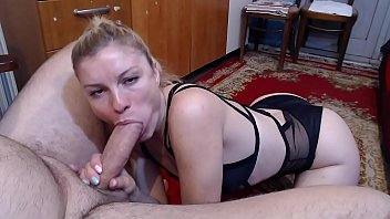 He gives his father's wife a blowjob. His young and good dick mother takes advantage of her stepson and makes a blowjob like no one has done to the boy before. Thumbnail