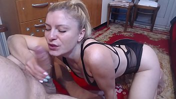 Watch He gives his father's wife a blowjob. His young and good dick mother takes advantage of her stepson and makes a blowjob like no one has done to the boy before. preview