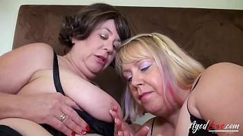 Watch Two mature ladies enjoying attention of guys preview