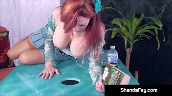 The Hottest Canadian MILF Shanda Fay finds a Hard Cock in her outdoor table waiting to be milked! Super Hot_Horizontal Glory Hole Blow Job! Full Video & Live @ ShandaFay.com! Thumbnail