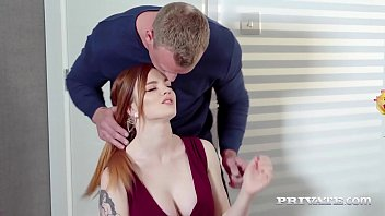 Busty ginger Carly Rae riding cock