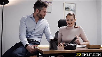 rich young boss fucks hard his new office worker