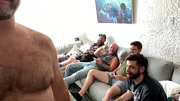 Playing video games with the boys