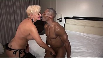 Watch this muscular black mature gentleman pleasure a Queen of Spades Blonde black cock slut