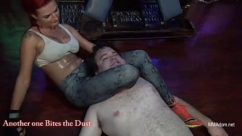 Redhead Mistrix Headscissors Mixed Wrestling Domination