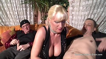Big boobed older blondes fun with two bisex guys