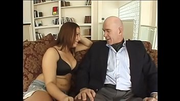 Profligate dodderer seduced young pretty schoolmiss with big natural tits and massive keyster
