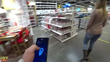 Remote controlled vibrator while shopping