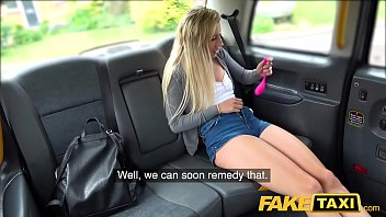 Fake Taxi Fit tattooed horny minx cums on taxi back seat with toy