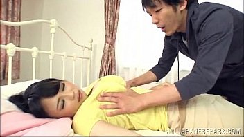 Busty Japanese Milf Pleases A Dude With A b.-Taking Titj