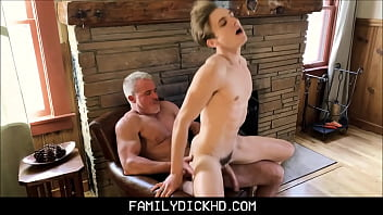 Young Fit Ripped Body Twink Grand Son Fucked By Muscle Hunk Grand Dad