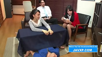JAV S. Fucking Mom under Table on Game Night