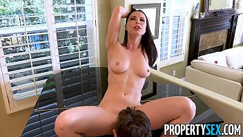 Hot homebuyer gives homeowner amazing birthday blowjob plus she lets him eat her pussy and fuck too