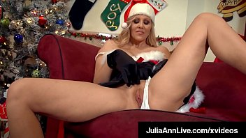 It's a very Cougar XXXMas! Beautiful horny milf, Julia Ann, stuff her mature muff with her dildo, waiting for Santa! She is such a ho ho ho! Full Video & Julia Ann Live @ JuliaAnnLive.com! Thumbnail