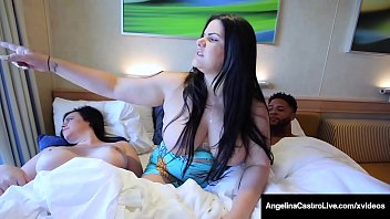 Curvy Cuban BBW, Angelina Castro, finger bangs her thick vagina while plump Virgo Peridot, milks a big black cock - all on a Love Boat! Full Video & Angelina Live @ AngelinaCastroLive.com!