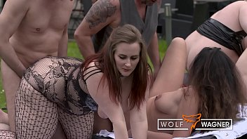 Naughty MILFs banged hard by several strangers in swinger session! WolfWagner.com