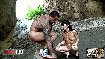 Rob Diesel and Linda India fucking in a cave