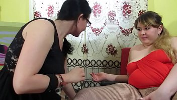 A fat lesbian and a mature brunette pull out panties from their cunt, fuck with huge sex toys and the milf makes the BBW deep vaginal fisting.