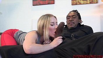 Babe pussy eaten before interracial fuck