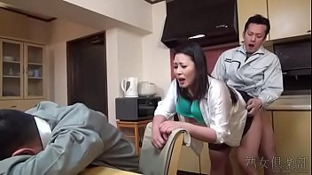 Asian wife fucked by husband's friend