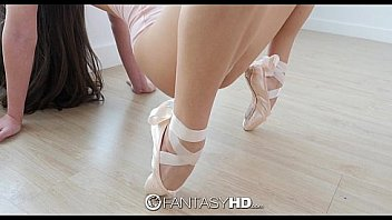 Lucy Doll ballerina bends over backwards for his dick
