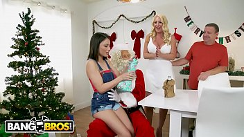 BANGBROS - Big Tis, Round Asses Christmas Special With Janna Hick and Liv Wild Thumbnail